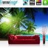 PREMIUM Fototapete - no. 5 | Paradise Beach | Strand Meer Palmen Beach 3D Ozean Palme