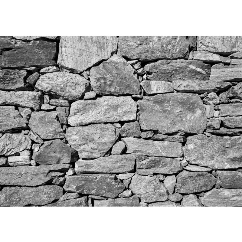 vlies fototapete black and white stone wall steinwand. Black Bedroom Furniture Sets. Home Design Ideas