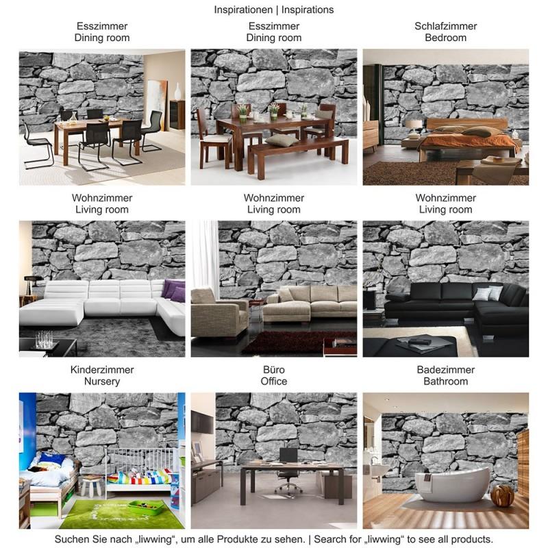 vlies fototapete black and white stone wall steinwand tapete steinmauer steine steinoptik 3d pink