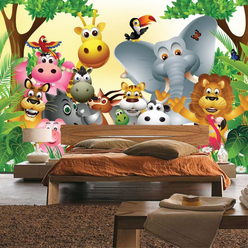 kinderzimmer tapete zoo bibkunstschuur. Black Bedroom Furniture Sets. Home Design Ideas