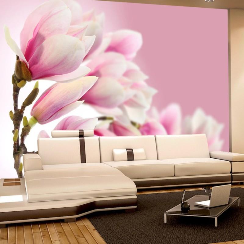 vlies fototapete pink magnolia blumen tapete magnolie. Black Bedroom Furniture Sets. Home Design Ideas