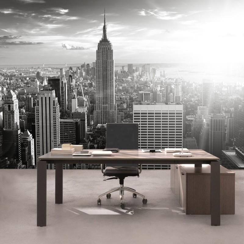 vlies fototapete manhattan skyline usa tapete new york city usa amerika empire state. Black Bedroom Furniture Sets. Home Design Ideas