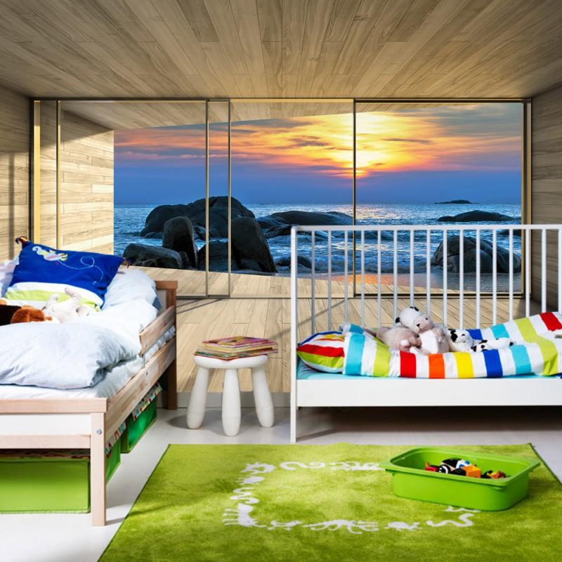vlies fototapete no 1768 vliestapete liwwing r meer tapete raum ausblick scheibe strand. Black Bedroom Furniture Sets. Home Design Ideas