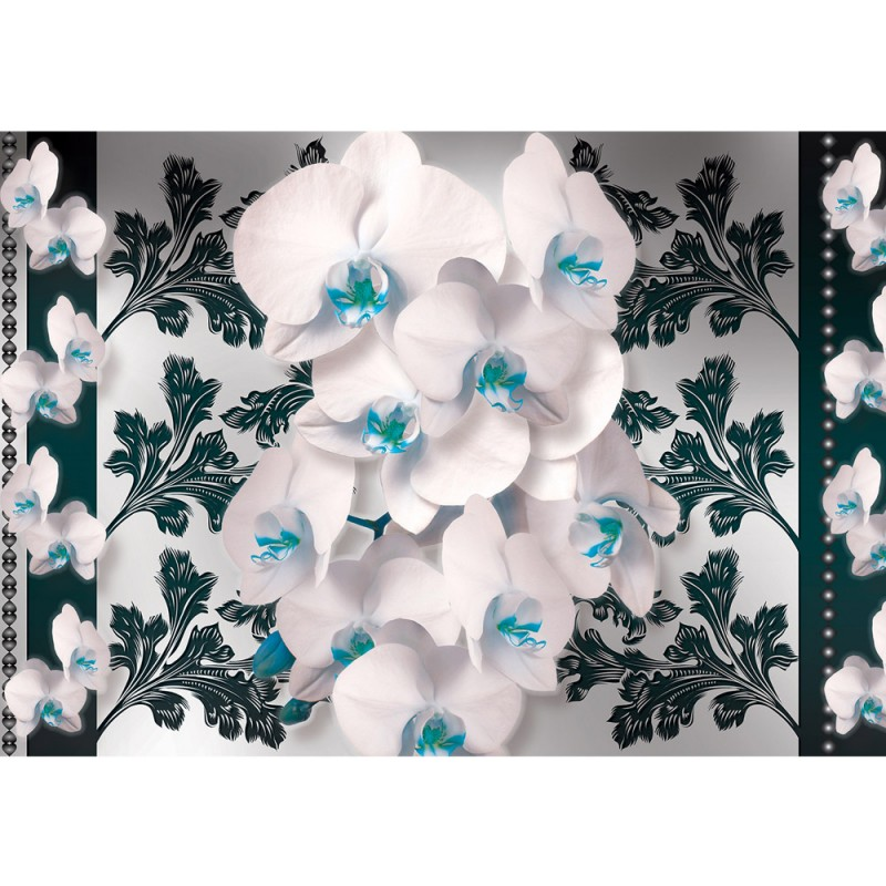 Vlies Fototapete no. 1815  Vliestapete liwwing (R) Orchideen Tapete Orchidee Blumen Ornamente ...