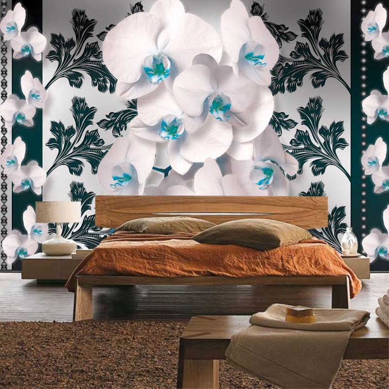 Fototapete Jugendzimmer Türkis : Vlies fototapete no vliestapete liwwing r orchideen tapete orchidee blumen ornamente