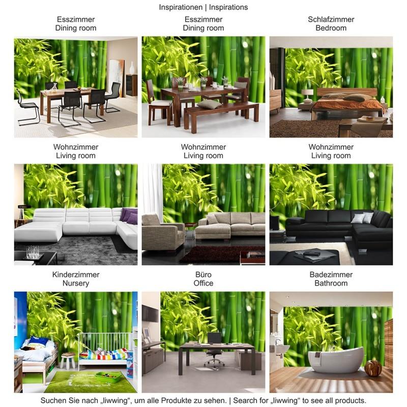 Vlies fototapete far asia bamboo wald tapete bambus - Fototapete asia ...
