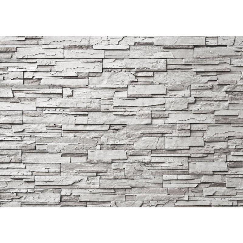 Vlies fototapete noble grey stone wall steinwand - Piedra para muro exterior ...