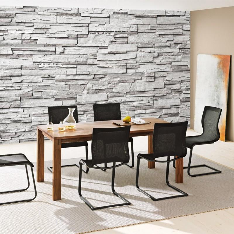 Wand Steinoptik vlies fototapete noble grey wall steinwand tapete steinwand