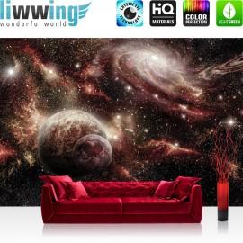 "Vlies Fototapete ""no. 1868"" | Welt Tapete Weltall Planeten schwarzes Loch Sterne schwarz | liwwing (R)"