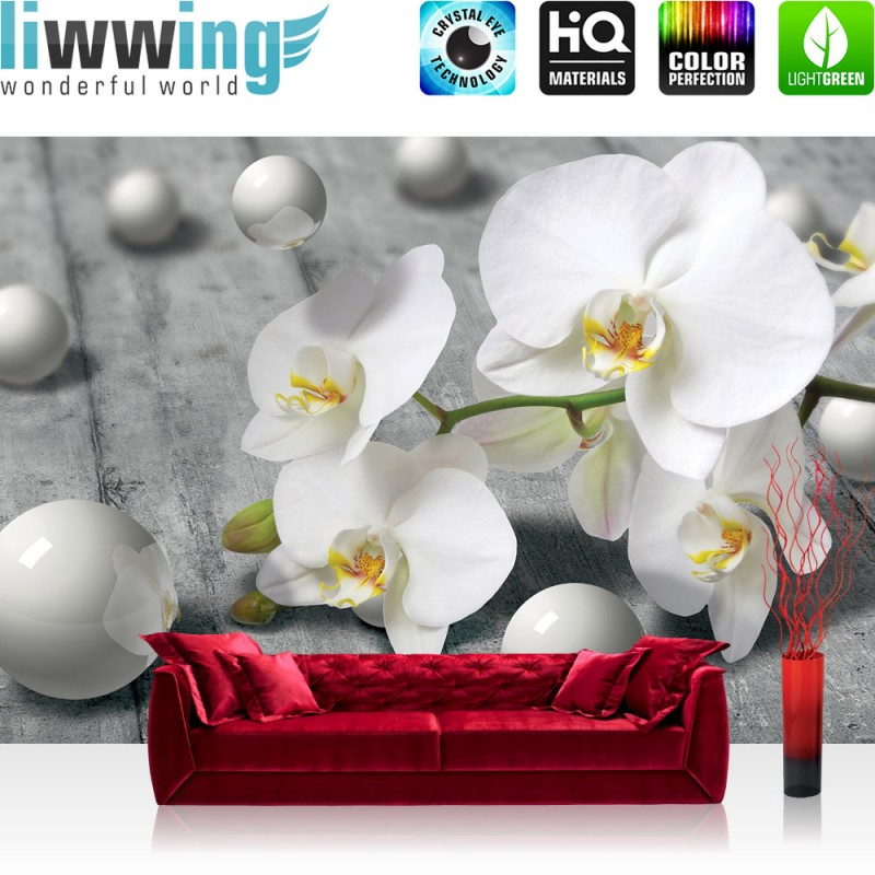 vlies fototapete no 1882 orchideen tapete orchidee 3d. Black Bedroom Furniture Sets. Home Design Ideas