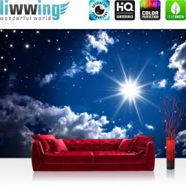 "Vlies Fototapete ""Romantic Stars"" | Sternenhimmel Tapete Sternenhimmel Stars Sterne Leuchtsterne Nachthimmel blau"