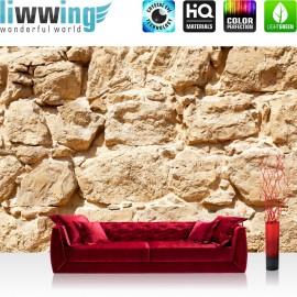 PREMIUM Fototapete - no. 25 | Rock Stone Wall | Steinwand Steine Wand Wall