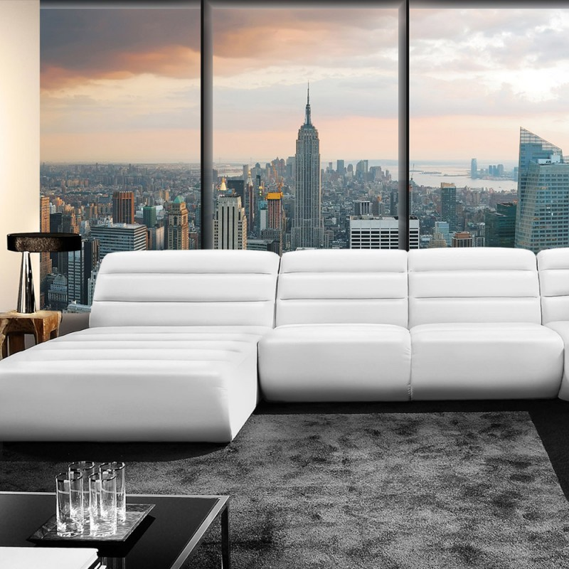 vlies fototapete no 1929 vliestapete liwwing r new york tapete skyline new york fenster. Black Bedroom Furniture Sets. Home Design Ideas