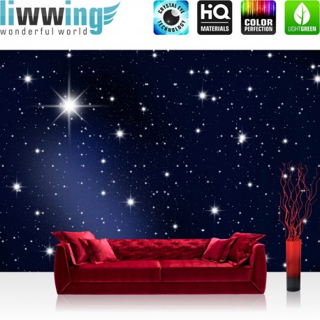 "Vlies Fototapete ""A Million Stars"" | Sternenhimmel Tapete Stars Sterne Leuchtsterne Nachthimmel blau"