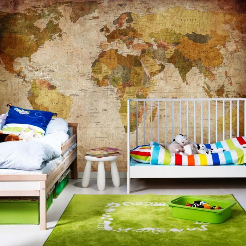 vlies fototapete vintage atlas welt tapete weltkarte. Black Bedroom Furniture Sets. Home Design Ideas