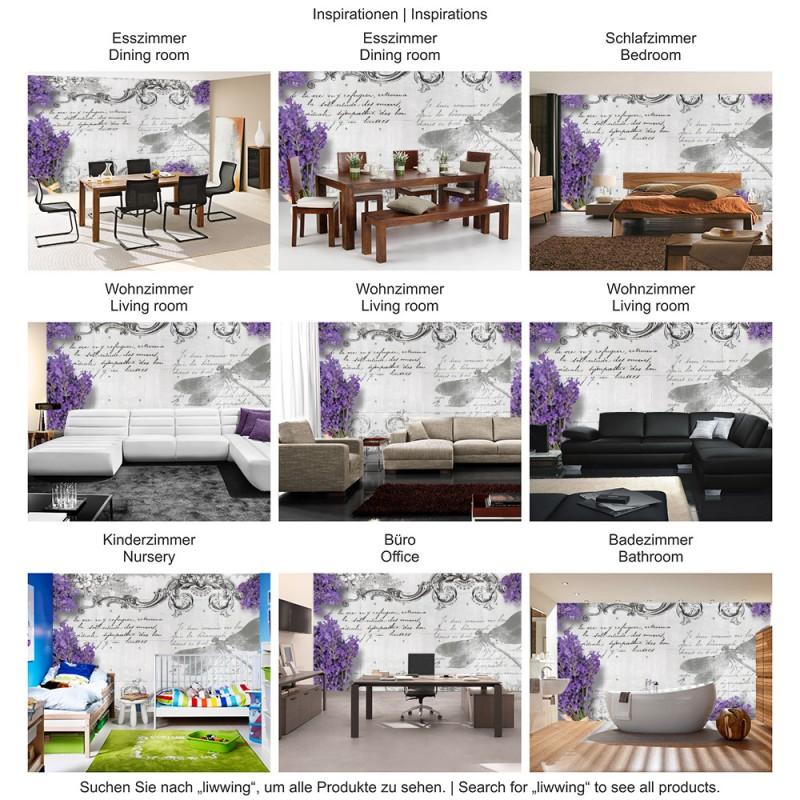 Lavendel Pflanze Schlafzimmer | Vlies Fototapete No 1958 Vliestapete Liwwing R Schriftkunst