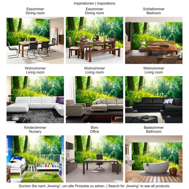 livingwalls fototapete «vintage paper collage» 036700. wandfarben ... - Vintage Wohnzimmer Grun