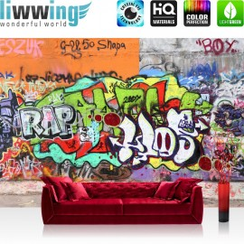 "Vlies Fototapete ""Graffiti Stone Wall "" 