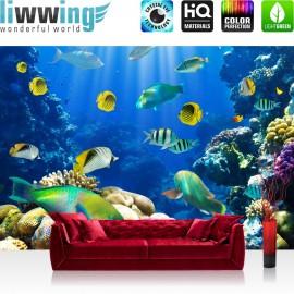 PREMIUM Fototapete - no. 33 | Underwater World | Aquarium Unterwasser Meer Fische Riff Korallenriff