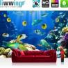 "Vlies Fototapete ""Underwater World "" | Tiere Tapete Aquarium Unterwasser Meereswelt Meer Fische Riff Korallenrif blau"