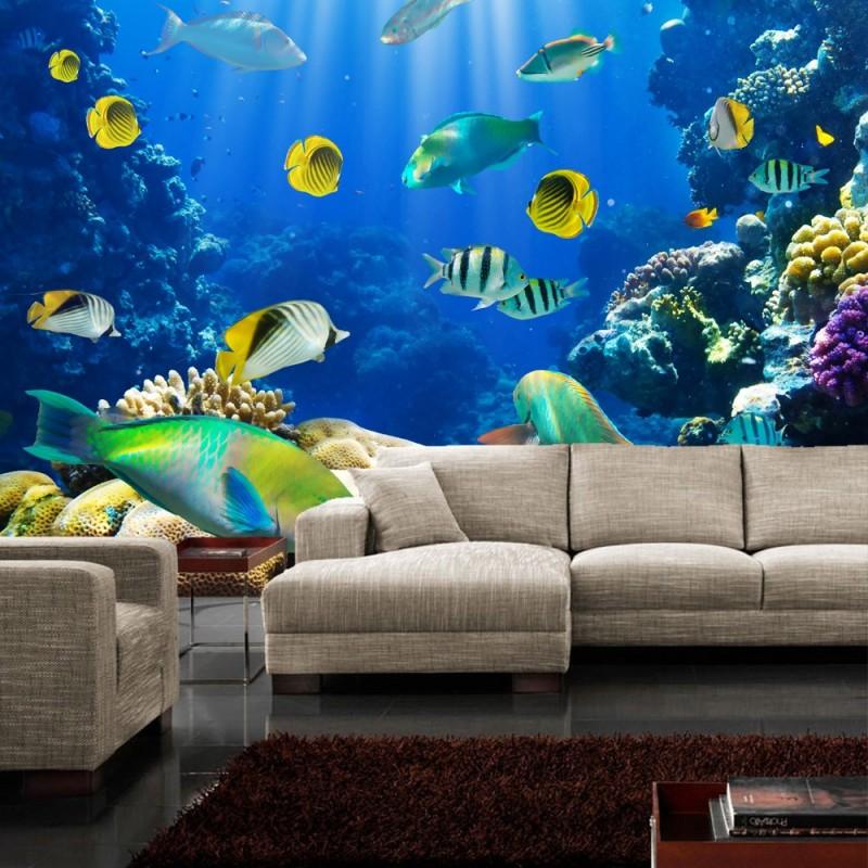 fototapete unterwasserwelt. Black Bedroom Furniture Sets. Home Design Ideas