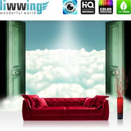 "Vlies Fototapete ""no. 2003"" | Himmel Tapete Wolken Himmel Tür Sonne Licht grün | liwwing (R)"