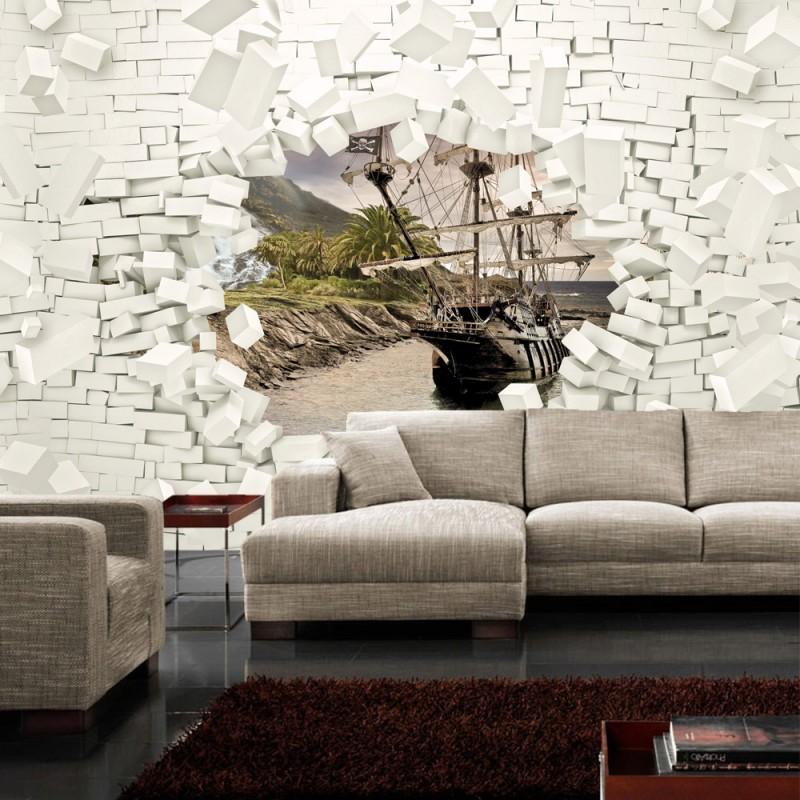 vlies fototapete no 2014 vliestapete liwwing r steinwand tapete steinoptik stein 3d optik. Black Bedroom Furniture Sets. Home Design Ideas