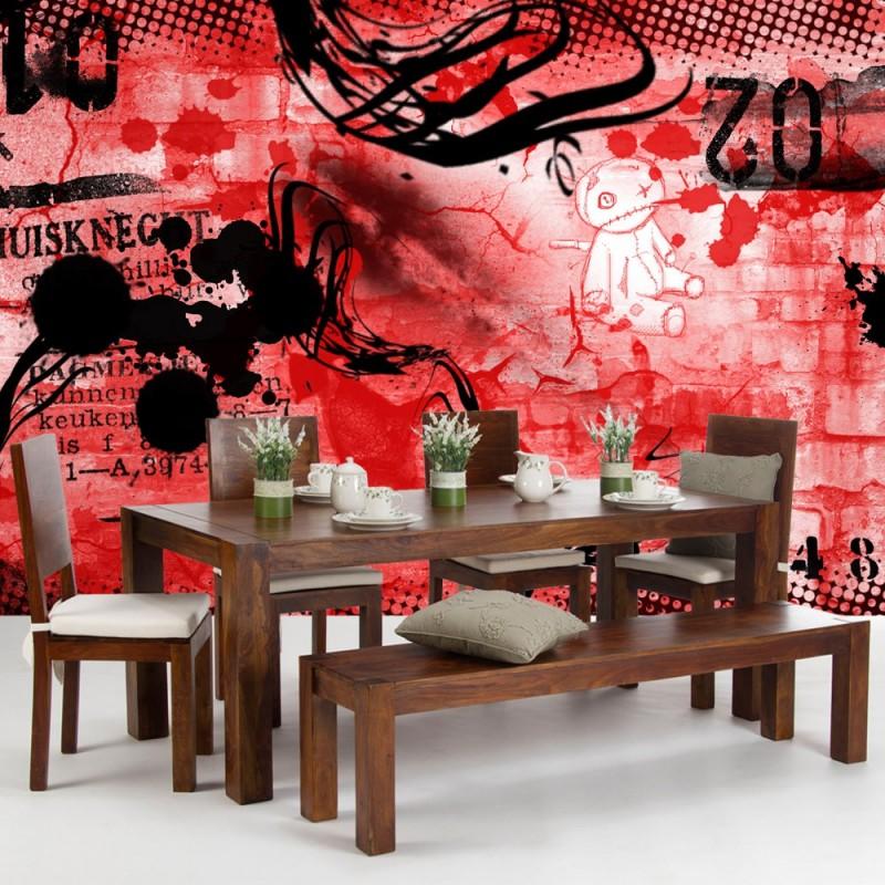 tapete kinderzimmer rot ihr traumhaus ideen. Black Bedroom Furniture Sets. Home Design Ideas