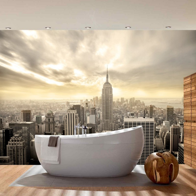 vlies fototapete manhattan skyline view usa tapete new. Black Bedroom Furniture Sets. Home Design Ideas