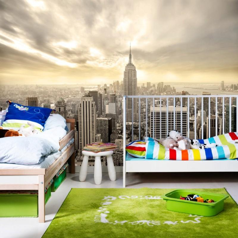 vlies fototapete manhattan skyline view usa tapete new. Black Bedroom Furniture Sets. Home Design Ideas
