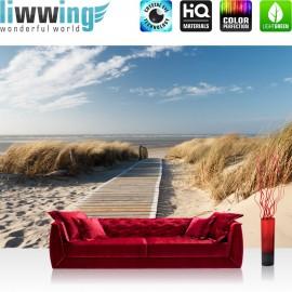 PREMIUM Fototapete - no. 38 | North Sea Dunes | Strand Meer Ostsee Beach Blau Himmel Sonne Sommer