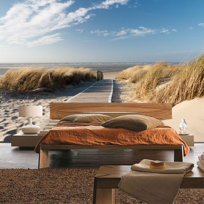 vlies fototapete north sea dunes strand tapete meer. Black Bedroom Furniture Sets. Home Design Ideas