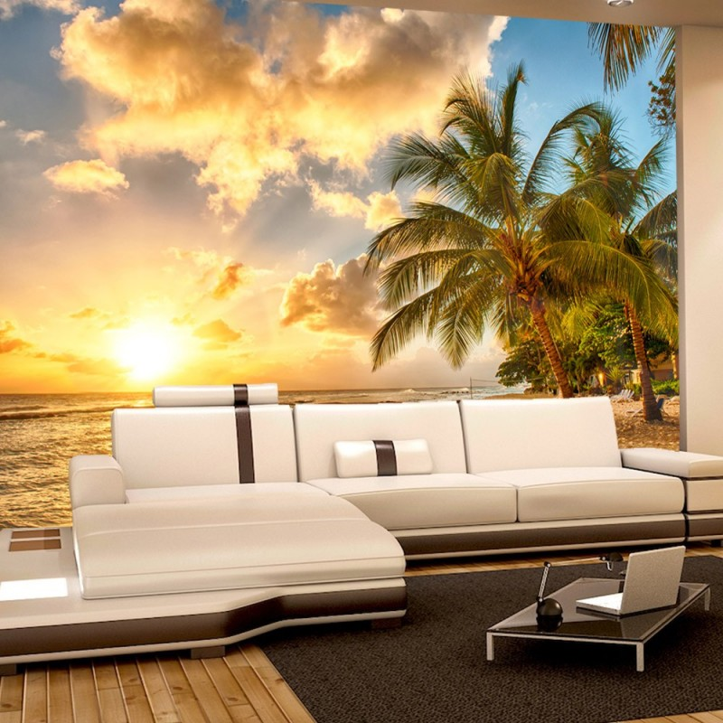 vlies fototapete dream beach strand tapete meer. Black Bedroom Furniture Sets. Home Design Ideas