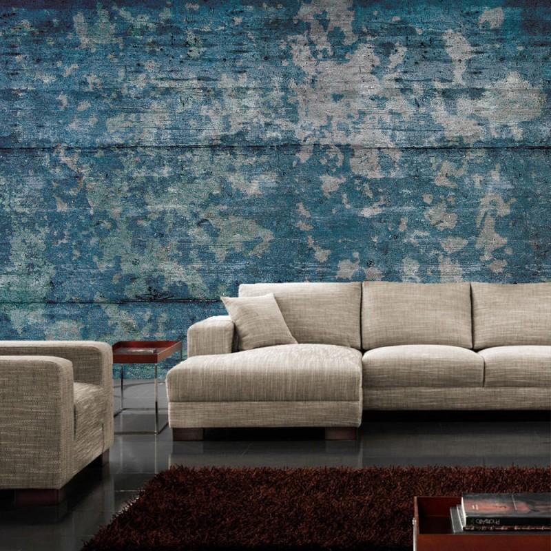 Holz Tapete Blau | Die schönsten Einrichtungsideen