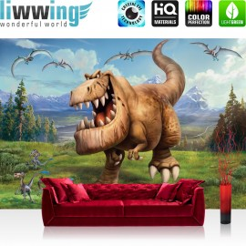 "Vlies Fototapete ""no. 2148"" | Cartoon Tapete Disney ARLO & SPOT Disney Kindertapete Dinos Dinosaurier braun | liwwing (R)"