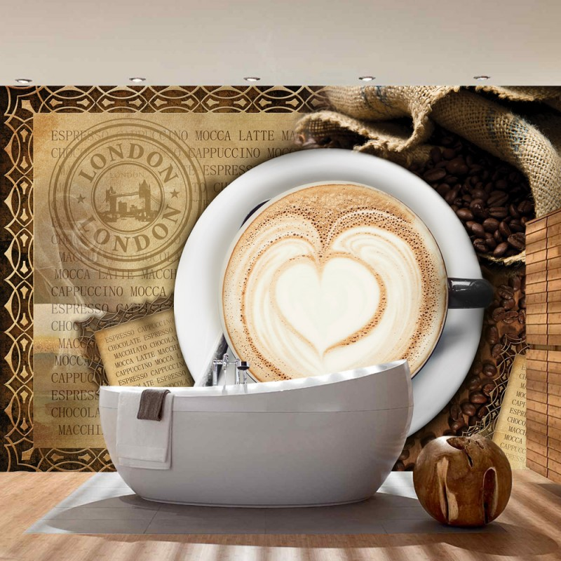 Vlies fototapete no 2150 vliestapete liwwing r kaffee - Tapete cappuccino ...