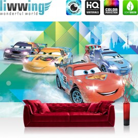 "Vlies Fototapete ""no. 2151"" | Cartoon Tapete Disney Cars Pixar Cars Kindertapete Lightning McQueen bunt | liwwing (R)"