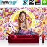 "Vlies Fototapete ""no. 2172"" | Mädchen Tapete Disney Soy Luna Soy Luna Disney Kindertapete Roller Skates bunt | liwwing (R)"