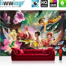 "Vlies Fototapete ""no. 2180"" | Cartoon Tapete Disney Fairies Die Feen Kindertapete Klara Tinker Bell Rosetta bunt | liwwing (R)"