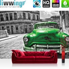 "Vlies Fototapete ""no. 2225"" | Autos Tapete Oldtimer Auto Kuba Havanna grau | liwwing (R)"