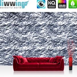 "Vlies Fototapete ""no. 2241"" | Texturen Tapete Stein Steinwand Felsen grau | liwwing (R)"