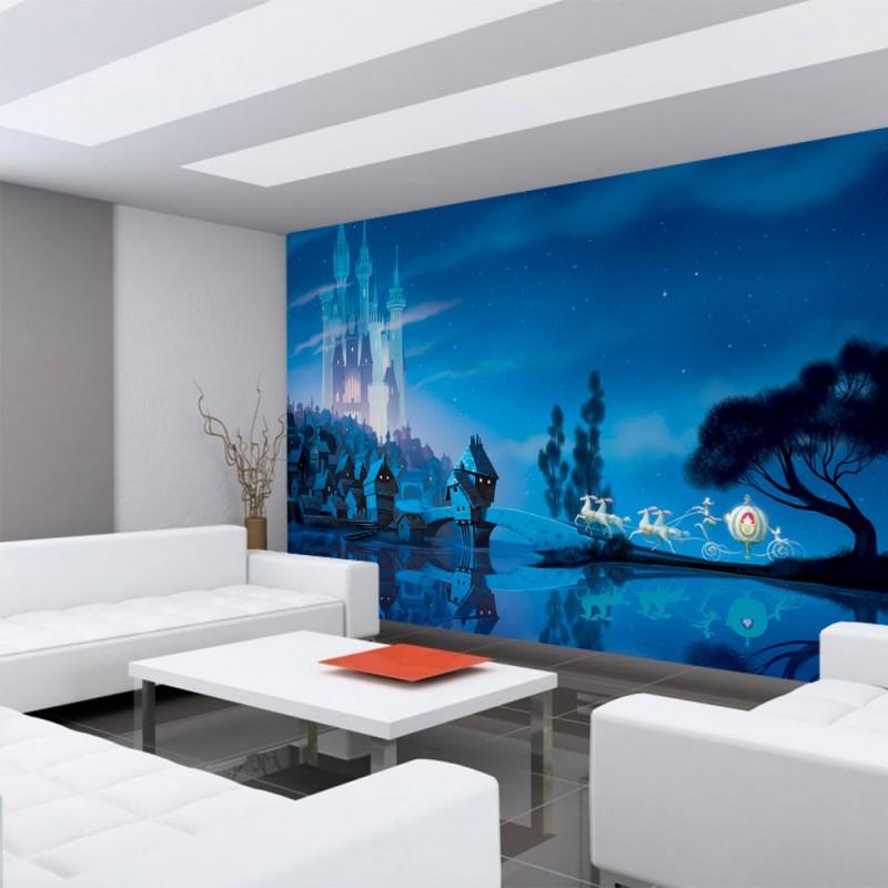 vlies fototapete no 2244 kindertapete tapete disney princesses disney cinderella schloss. Black Bedroom Furniture Sets. Home Design Ideas