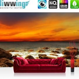 PREMIUM Fototapete - no. 60 | Rocky Beach Sunset | Sonnenaufgang Strand Meer Felsen Sunset