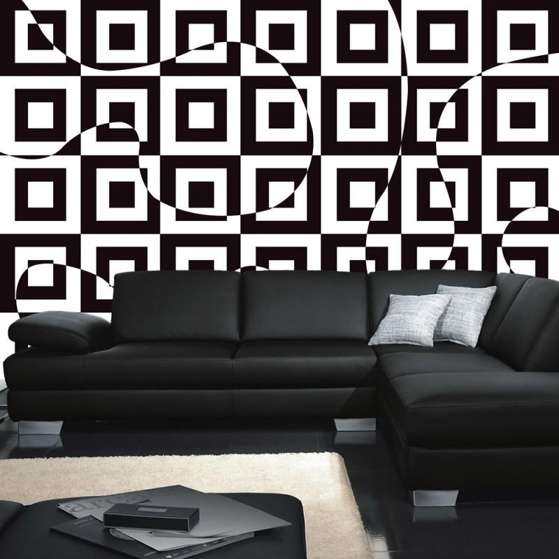 vlies fototapete no 2302 vliestapete liwwing r kunst tapete abstrakt muster quadrate kunst. Black Bedroom Furniture Sets. Home Design Ideas