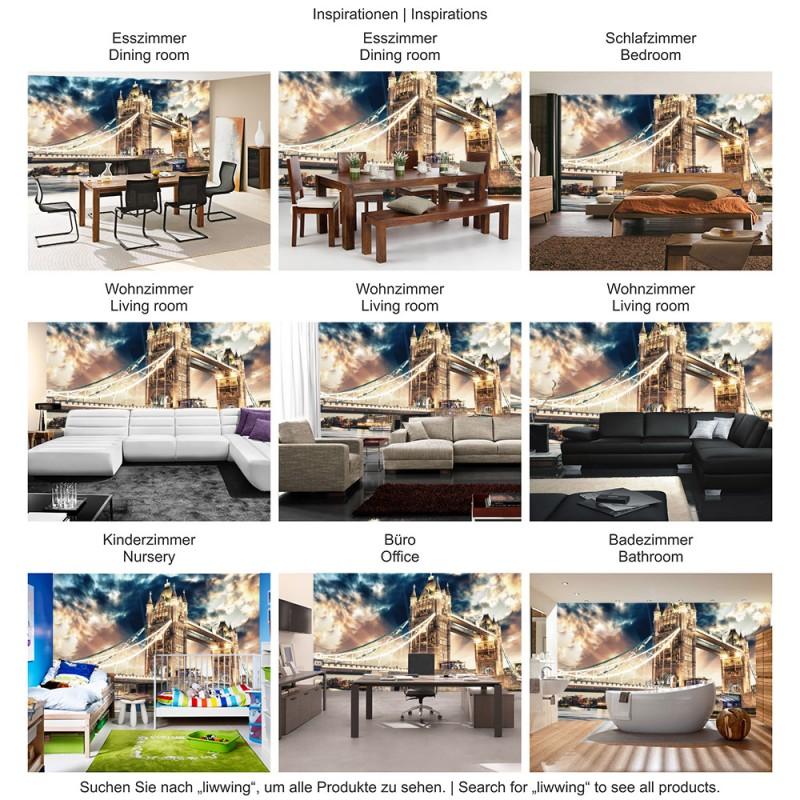 vlies fototapete no 2321 vliestapete liwwing r london tapete br cke tower bridge fluss. Black Bedroom Furniture Sets. Home Design Ideas