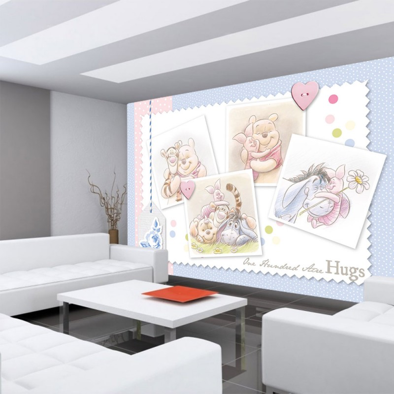 vlies fototapete no 2343 disney tapete winnie puuh kindertapete cartoon winnie pooh ferkel. Black Bedroom Furniture Sets. Home Design Ideas