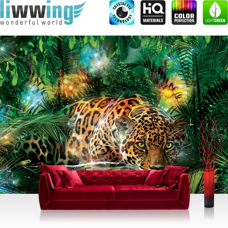 vlies fototapete no 2381 vliestapete liwwing r tiere tapete leopard tier raubkatze katze. Black Bedroom Furniture Sets. Home Design Ideas