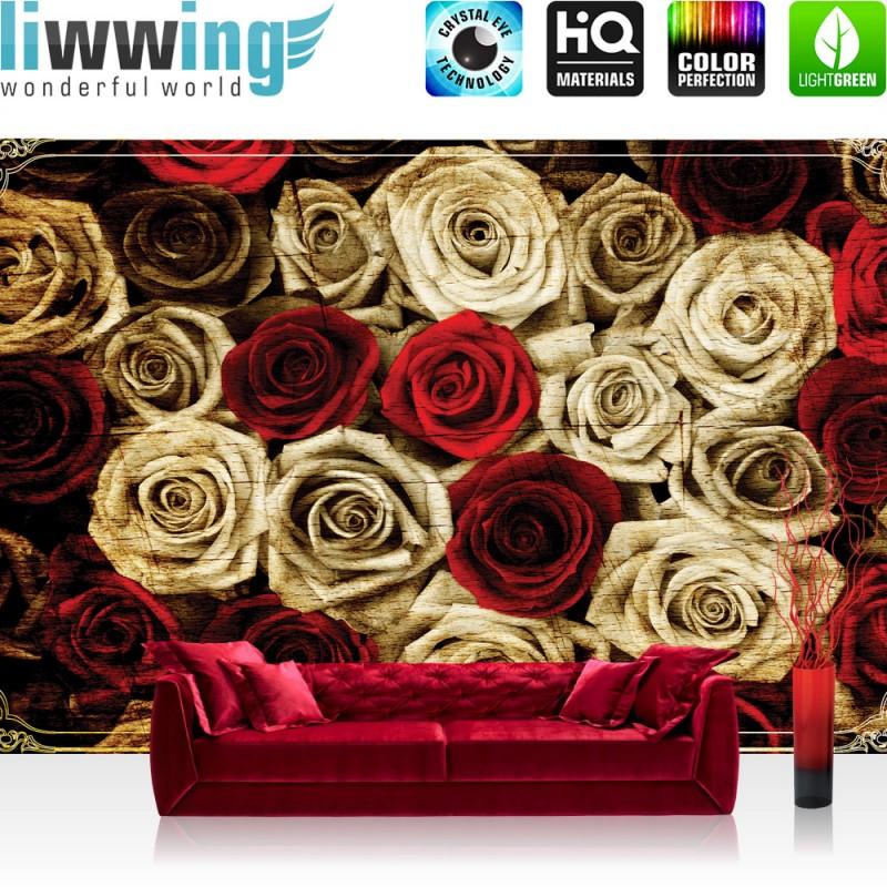Vlies fototapete no 2410 vliestapete liwwing r blumen for Tapete rosen