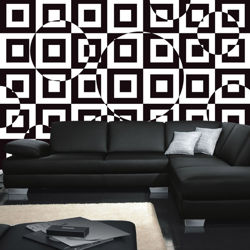 vlies fototapete no 2436 vliestapete liwwing r kunst tapete kacheln muster design optische. Black Bedroom Furniture Sets. Home Design Ideas
