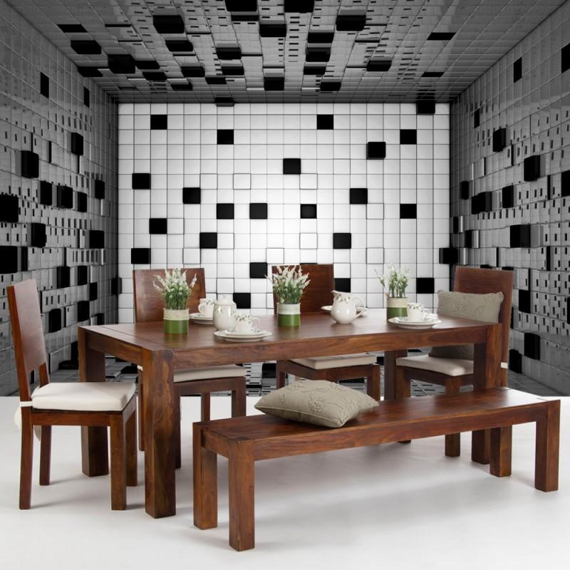 vlies fototapete no 2472 vliestapete liwwing r kunst tapete raum fliesen w rfel kacheln. Black Bedroom Furniture Sets. Home Design Ideas